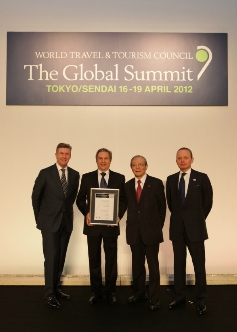 The Inkaterra Team pick up the award for Tourism of Tomorrow