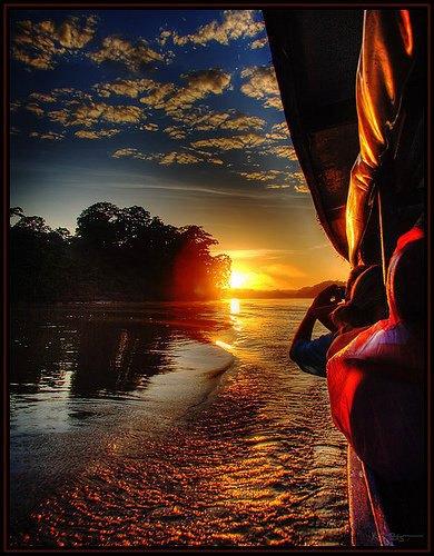 Sunrise over the Peruvian Amazon River