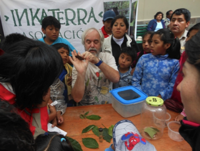 Educating the local children about conservation and the environment