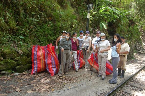 Our annual clear up at Inkaterra