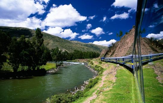 A train journey from Cusco to Machu Picchu