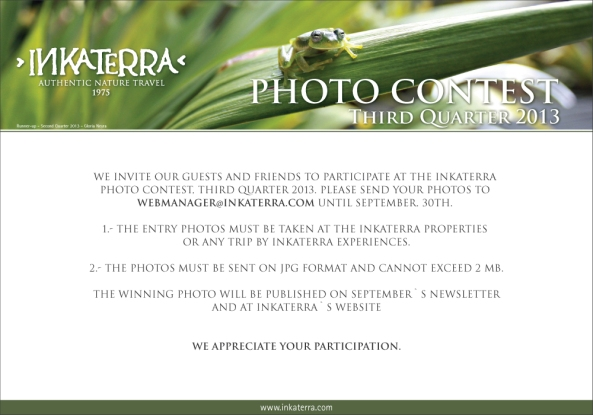 Inkaterra Photo Contest Q3