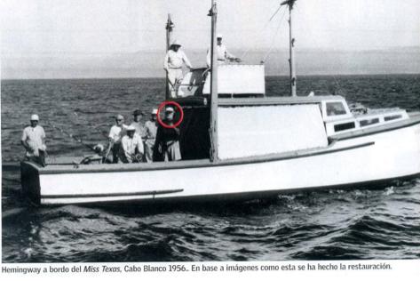 Hemingway aboard of the Miss Texasa